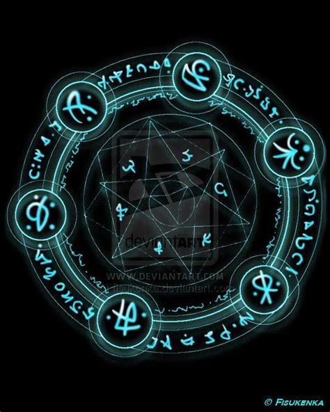 magic circle by fisukenka on deviantart arcane circles cercle magique runique
