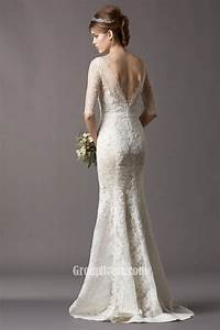 Lace fit and flare wedding dress wedding dresses for Lace fit and flare wedding dress with sleeves