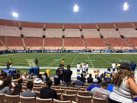 section 8 los angeles los angeles memorial coliseum section 8 rateyourseats