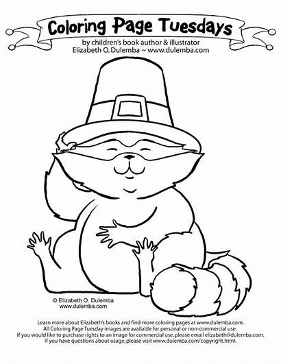 Coloring November Pages August Thanksgiving Printable Raccoon