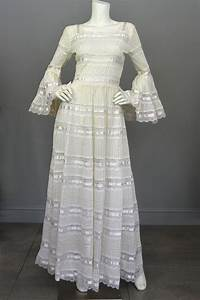 1970s vintage mexican wedding dress with bell sleeves and With vintage mexican wedding dress