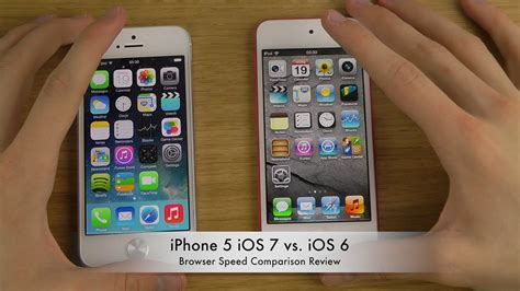 iphone 6 ios iphone 5 ios 7 vs ios 6 browser speed comparison review 11350