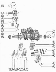Mercury Marine Model 850 85 Hp  4 Cylinder  Crankshaft  Piston  U0026 Connecting Rod Parts