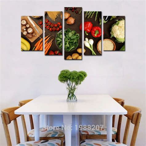 pieces vegetable paintings wall art fresh vegetables