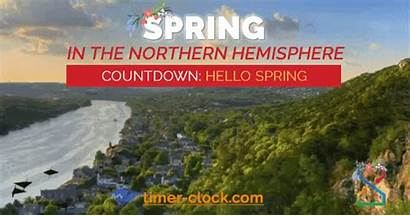 Spring Days Countdown Many Until Clock Timer