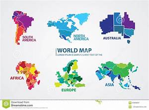 Pixel World Map Design Vector Stock Illustration ...
