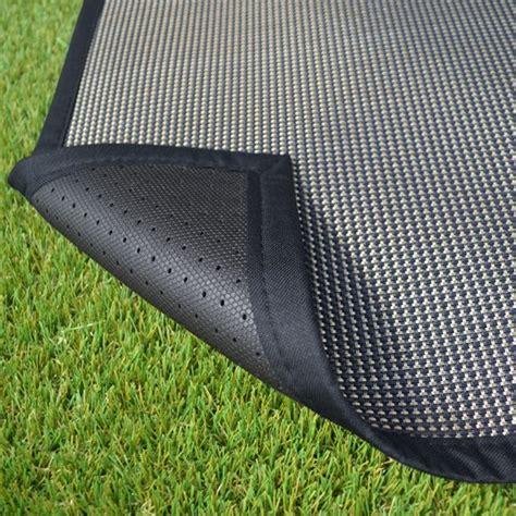 tapis ext 233 rieur pvc tress 233 noir decoweb com