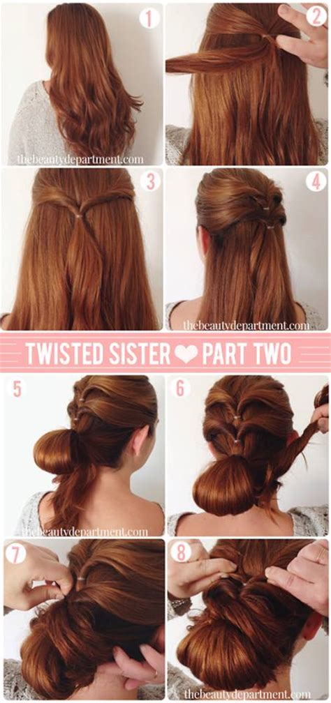 steps to style hair simple step by step hairstyles with buns rachael edwards 8879