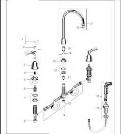 kitchen faucet repair parts order replacement parts for standard 4251 standard collection two handle bottom mount