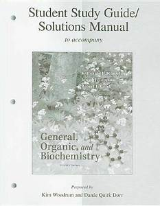 Student Study Guide  Solutions Manual General  Organic