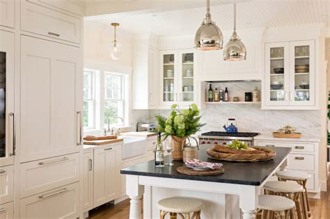 stainless kitchen cabinets cape cod coastal transitional kitchen new york by 2467