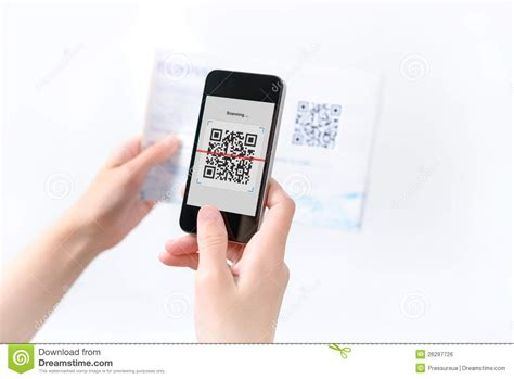 woman scanning qr code   magazine royalty  stock