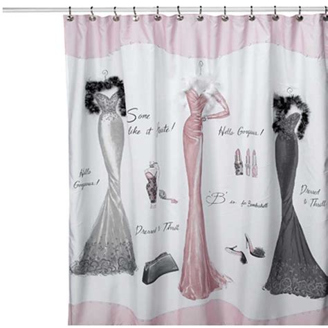 Cheap Girly Bathroom Sets by Dressed To Thrill Shower Curtain