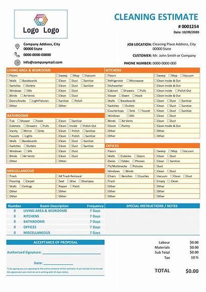 Estimate Template Proposal Bid Flooring Construction Templates