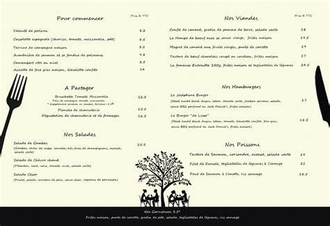 Carte De Menu Restaurant by Le Design De La Carte De Restaurant