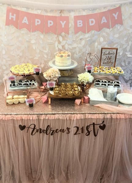 enchanted rose gold theme dessert table package props