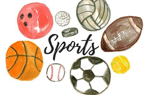 clipart sport watercolor sport balls clipart illustrations creative