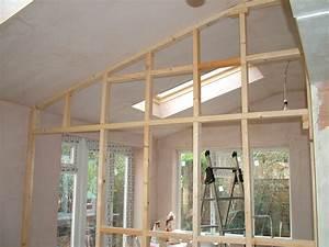 Faire Une Cloison De Separation : construire une cloison ossature bois l 39 atelier bois ~ Melissatoandfro.com Idées de Décoration
