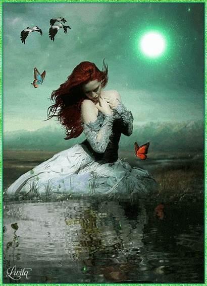 Fantasy Gifs Angel Moon Google Amazing Dark