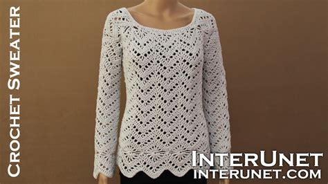 how to crochet a sweater sleeve sweater crochet pattern learn how to crochet