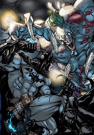 Titan Joker vs Batman
