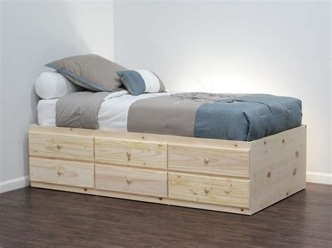 Twin Storage Bed With 6 Drawers