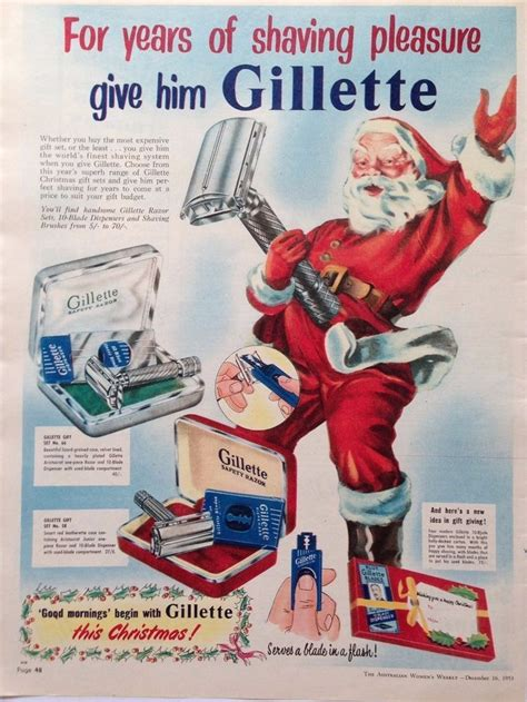 gillette retro razor shaving set ad  original vintage australian advertising vintage shaving shaving shaving set