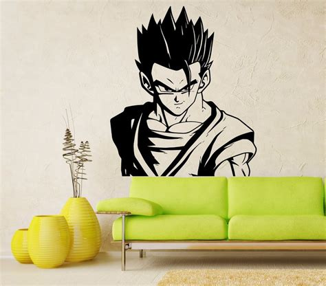 adult gohan vinyl wall decal dragon ball z dbz anime