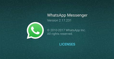 whatsapp for android is updated to version 2 17 231 beta