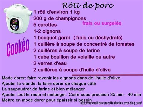 recette de cuisine cookeo rôti de porc échine au cookéo mes meilleures recettes