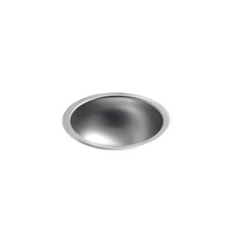 kohler bolero round drop in or undermount stainless steal