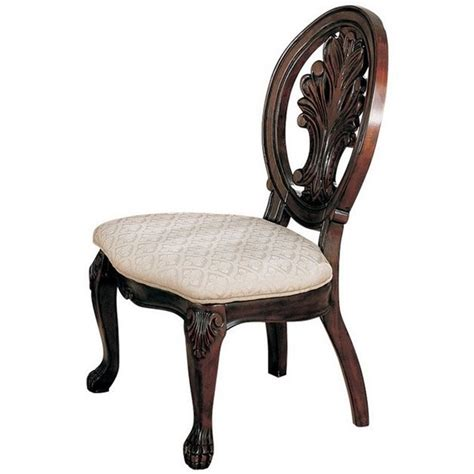 coaster traditional dining chair in cherry