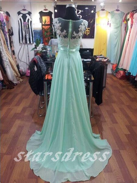 real beautiful mint lace chiffon long bridesmaid dresses