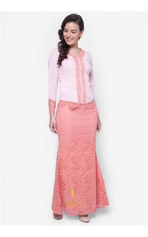 baju pink baju kebaya lace vercato in pink