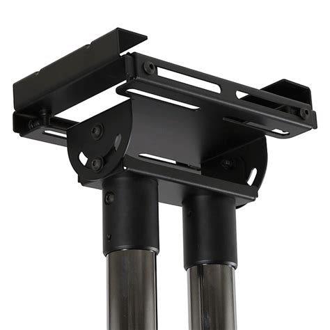 Peerless Dual Ceiling Mount by Peerless Modular Dual Pole I Beam Ceiling Plate Black Mod Cpi2
