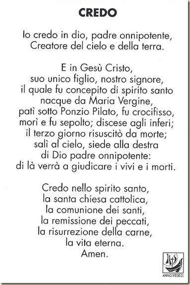 Preghiera Credo Testo by Cammino Con Te Credo