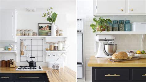 cuisine d herve comment organiser des étagères ouvertes dans la cuisine