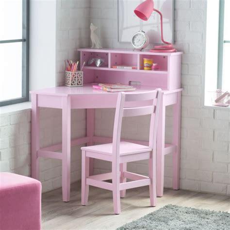 desk for children s room corner desk and chair set pink kids bedroom shelves