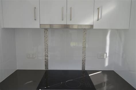 feature kitchen wall tiles white and silver kitchen metallic silver feature tiles to 7188