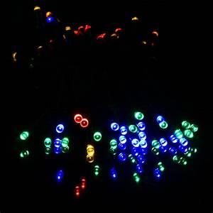 Solar Party String Lights Blue White Warm White Multicolor 12m 100 Led Solar Lights
