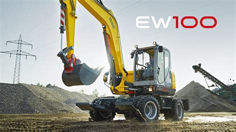 wacker neuson mobilbagger ew youtube