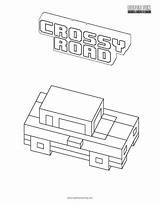 Coloring Road Crossy Pages Games Superfuncoloring Fun Game Cool sketch template