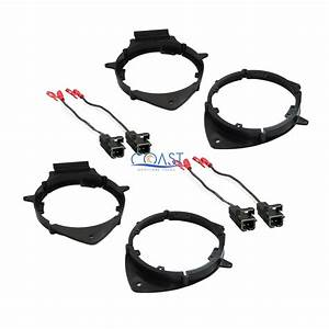 2x Front  U0026 Rear Door Speaker Adapter Brackets Wire Harness For Chevy Buick Cadi