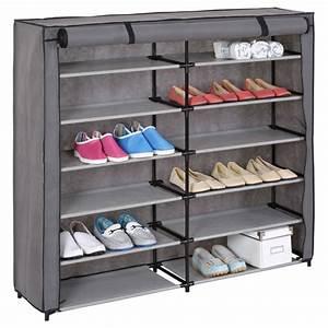Meuble Chaussure Gris : meuble chaussure viola gris fonc ~ Teatrodelosmanantiales.com Idées de Décoration