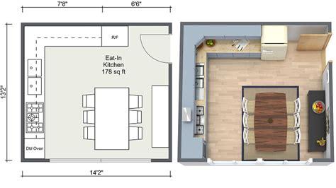 kitchen floor plan ideas kitchen ideas roomsketcher