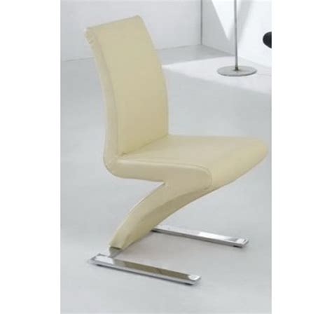 dining chairs mix leather chrome  cream homegenies