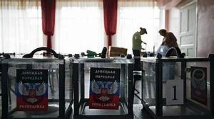 Ukraine rebels hold presidential and parliamentary ...