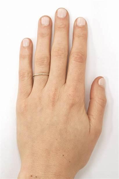 Ring Line Diamond Gatsby Ella Hand Gold