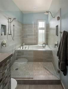 salle de bain baignoire douche tinapafreezonecom With baignoire et douche dans petite salle de bain