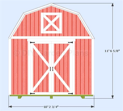 Free 10x12 Shed Plans Gable Roof by 10 X12 Gambrel Shed Plans With Loft